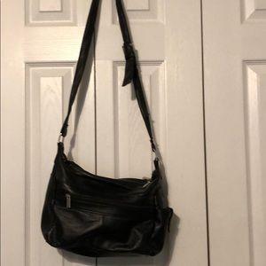 A black crossover bag